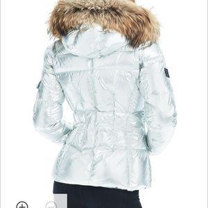 18a95cd4f50f0 Jackets   Coats - SAM. Blake silver foil puffer coat